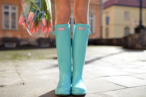 A Lady's Closet / Hunter Boots in the summer.