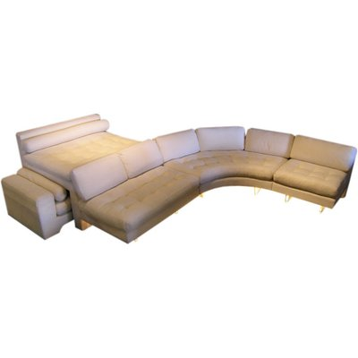 """Omnibus"" sectional sofa with roll-out daybed by Vladimir Kagan. 