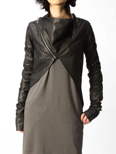 Rick Owens:ラップレザージャケットLAMB [Why are you here?] リックオウエンス シングル row11a-RP2714LC