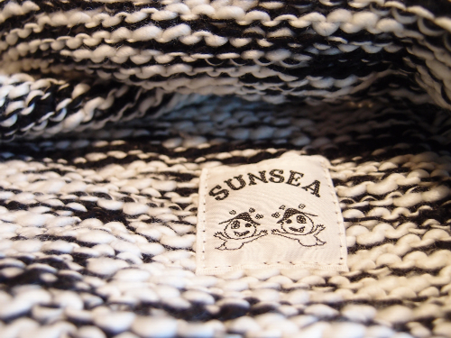 "SUNSEA SNS-12A80 Hooded muffler ""WHITE×BLACK,NAVY×BLACK""入荷! 