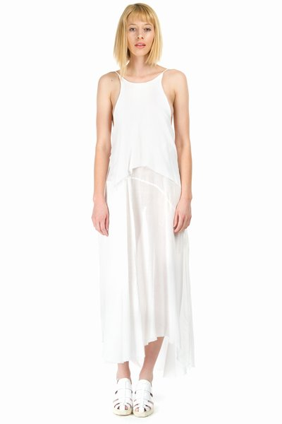 MARQUES'ALMEIDA PLEATED PATCH HALTERNECK DRESS - WOMEN - JUST IN - MARQUES'ALMEIDA