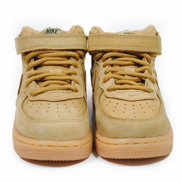 Amazon.com   Nike Force 1 MID LV8 (TD) Boys Toddler Basketball-Shoes 859338-200_10C - Flax/Flax-Outdoor Green-Gum Light Brown   Basketball