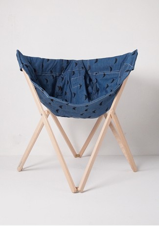 Chair Black Moons - Denim