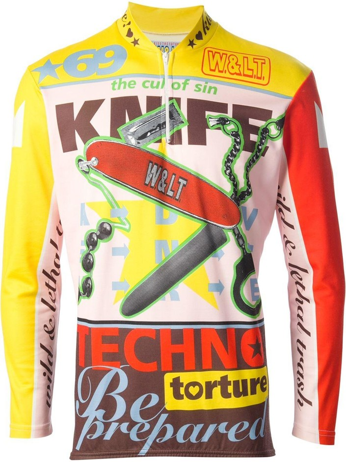 Walter Van Beirendonck Vintage プリント サイクリスト トップス - House Of Liza - Farfetch.com