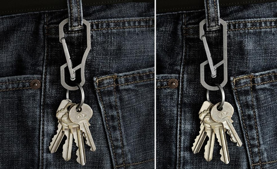 Quick Release Carabiners Made From Titanium | Cool Material