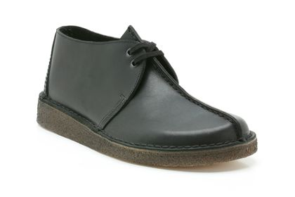 Mens Originals Shoes - Desert Trek in Black from Clarks shoes