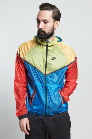 Shop for Nike Sportswear Outerwear for Men   Hyp Windrunner Jacket in Tour Yellow   Incu