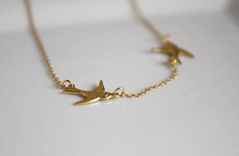 Cyber Monday Etsy Swallow Necklace 2 Little by lilabelledesign