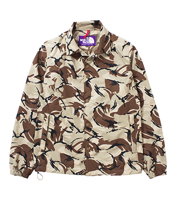 nanamica / Camouflage Print Mesh Coaches Jacket