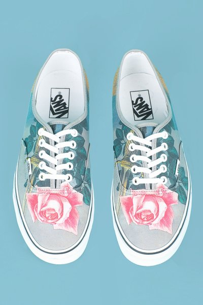 OPENING CEREMONY & MAGRITTE BLOW TO THE HEART VANS CANVAS SNEAKERS - MEN - OPENING CEREMONY & MAGRITTE