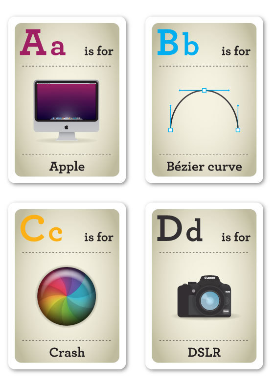 Design Nerds Flash Cards on the Behance Network