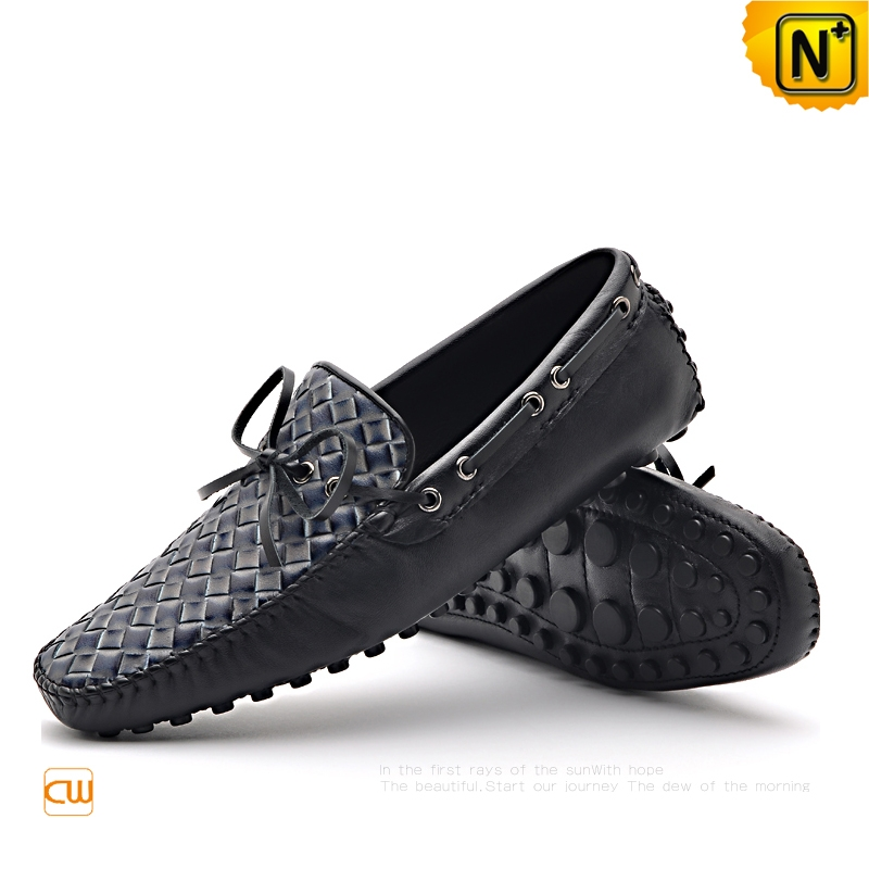 Mens Causal Braided Leather Driving Loafers Shoes CW712037   CWMALLS