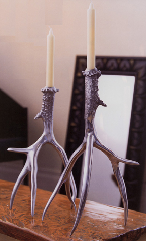 Roost Polished Antler Candlesticks at Velocity Art And Design - Your home for modern furniture and accessories in Seattle and the US.