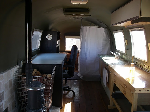 wood stove in an airstream   Camper Ideas