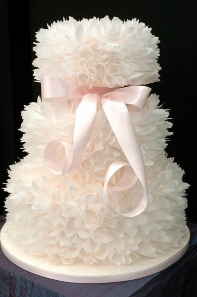❤ ♡ I Said YES ♡ ❤ / Frilly wedding cake