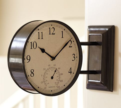 Side-Mounted Station Clock | Pottery Barn