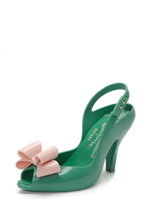 Watch your step! - Shoes / Green/Pink Lady Dragon Shoes with Bow