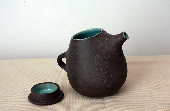 Raw Chocolate Teapot by clamlab on Etsy
