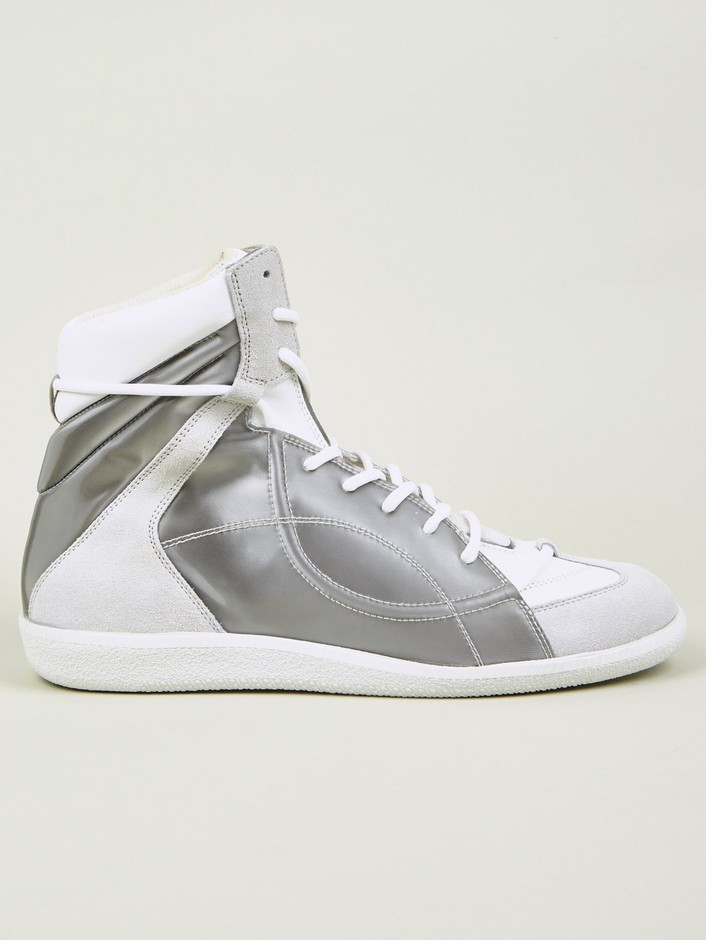 Maison Martin Margiela 22 Men's Hidden Lace Mid-Top Sneakers | oki-ni