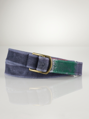 D-Ring Striped-Tip Web Belt - Belts   Men - RalphLauren.com