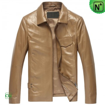 Mens Leather Shirt Jacket CW850118