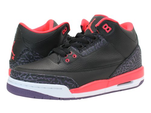 [ナイキ]NIKE AIR JORDAN 3 RETRO GS BLACK/BRIGHT CRIMSON/CNYN PURPLE 【BRIGHT CRIM...:Amazon.co.jp:シューズ&バッグ