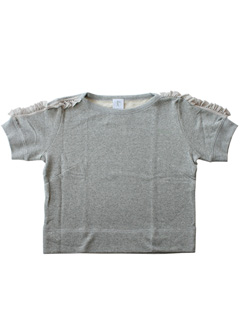 LOVE online store|WOMEN | Karen Walker  Ruffle Sleeve Top (grey)