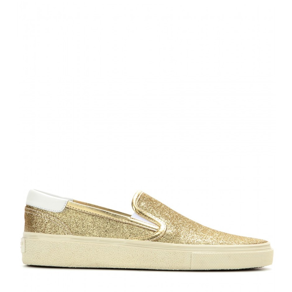 mytheresa.com - Glitter-covered slip-on sneakers - loafers & moccasins - shoes - Luxury Fashion for Women / Designer clothing, shoes, bags