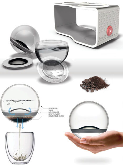 2-in-1 Cafe Lab: Combination Spill-Free Coffee & Tea Maker | Designs & Ideas on Dornob