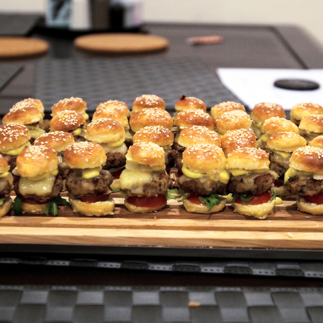 Fancy - Mini Burgers w/ White Truffle Sabayon