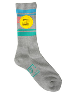 LOVE online store|MEN | MY LOADS ARE LIGHT the BAD SON Line Sox (grey)