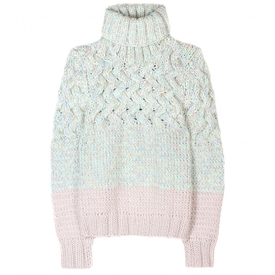 mytheresa.com - Chloé - CABLE KNIT TURTLENECK PULLOVER - Luxury Fashion for Women / Designer clothing, shoes, bags