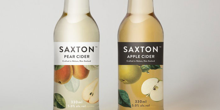 Saxton Cider - TheDieline.com - Package Design Blog