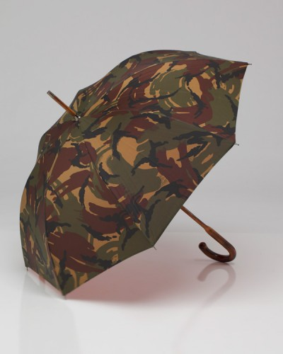 British Woodland Camouflage Umbrella Made in London, England