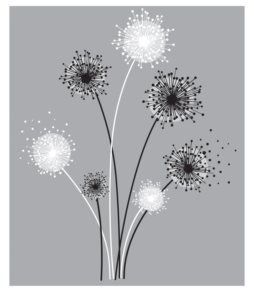 Amazon.com: ROOMMATES RMK1775GM Graphic Dandelion Peel and Stick Giant Wall Decals: Home & Kitchen