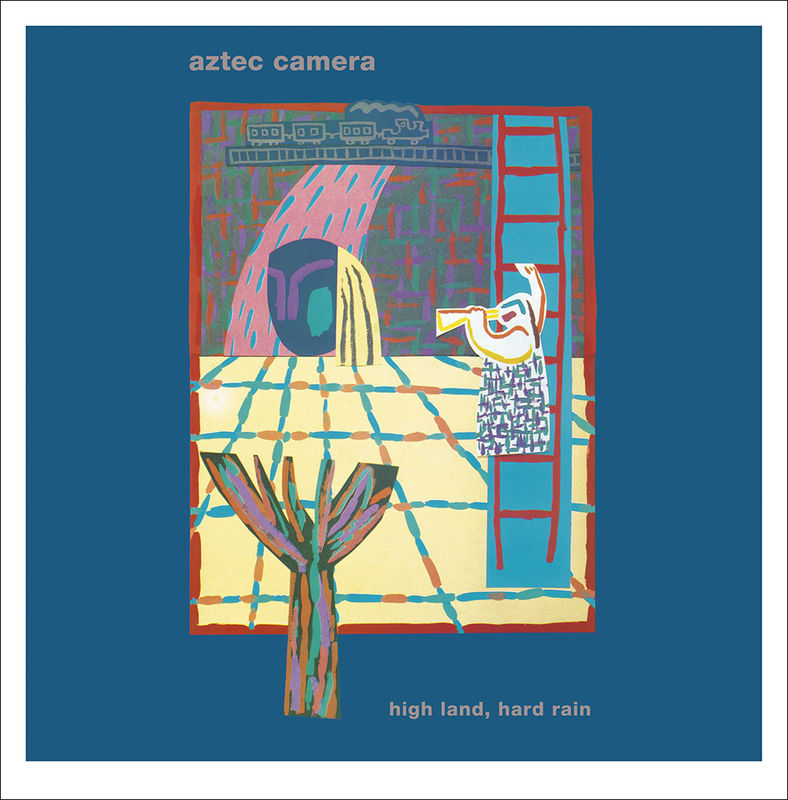 """Aztec Camera: High Land, Hard Rain. Gatefold LP and 7"""" EP, with limited edition Giclee print of LP cover. - AED"""