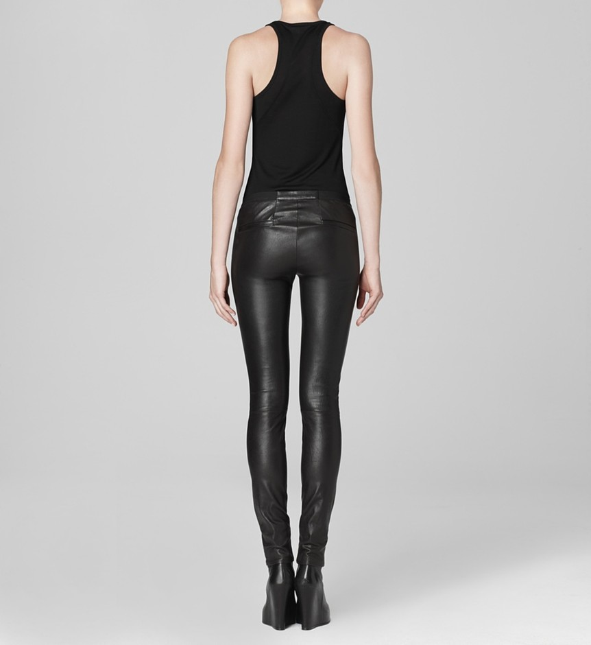 Helmut Lang | Leather Leggings - Stretch Leather Legging