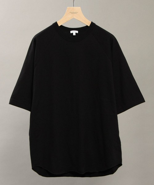 BEAUTY&YOUTH UNITED ARROWS(ビューティアンドユースユナイテッドアローズ)の「BY ∴ ワイド ラグラン ハーフスリーブ カットソー MADE IN JAPAN(Tシャツ・カットソー)」 - WEAR