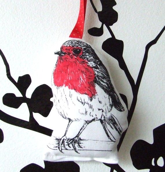 Smelly Robin Printed Lavender Sachet by inkmeup on Etsy