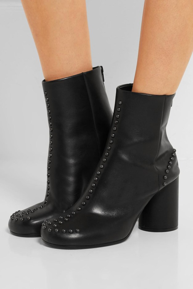 Maison Margiela | Studded leather ankle boots | NET-A-PORTER.COM