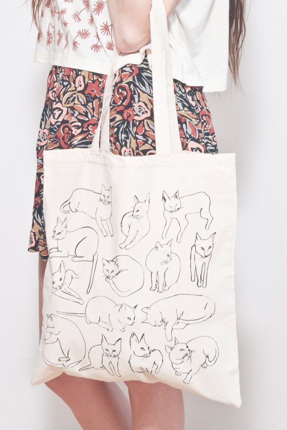 Etsy Transaction - Picasso Cats Tote