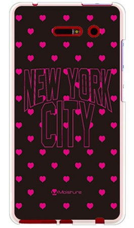 NYC ピンクハートドット (ソフトTPUクリア) design by Moisture / for iida INFOBAR A02/au