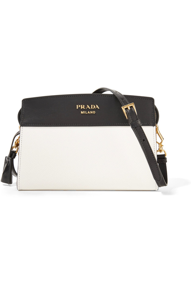 594a8763a7e0 PRADA   Esplanade small two-tone leather shoulder bag