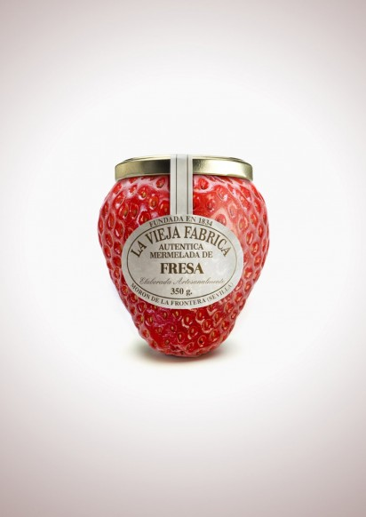 I Believe in Advertising | ONLY SELECTED ADVERTISING | Advertising Blog & Community » Jam La Vieja Fabrica: Strawberry, Peach, Pineapple