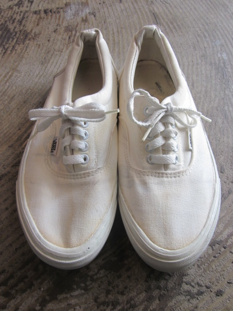 VINTAGE MADE IN USA VANS ERA SIZE 8ハーフ ホワイト - MOTHER EARTH