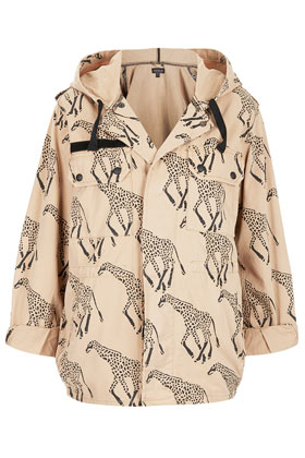 Giraffe Print Hooded Jacket - Jackets & Coats - Clothing - Topshop