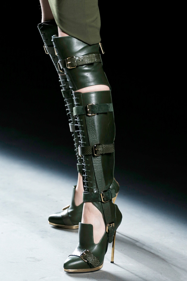 Olive Over-The-Knee Boot by Prabal Gurung for Preorder on Moda Operandi