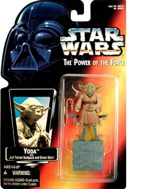 Amazon.com: Star Wars: Power of the Force Red Card > Yoda Action Figure: Toys & Games