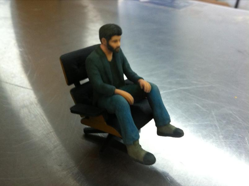 Mini Eames Lounge Chair in colour by kspence on Shapeways