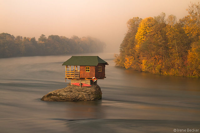 House on the Drina River / Kućica na steni | Flickr - Photo Sharing!